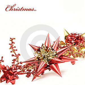 Red And Gold Christmas Decoration Royalty Free Stock Photography - Image: 20106447