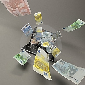 Laptop And Banknotes Royalty Free Stock Images - Image: 20106499