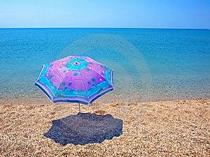Beach Umbrella, Sea And Sky Royalty Free Stock Photography - Image: 20107037