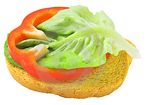 Delicious Toast With Salad Lief Royalty Free Stock Image - Image: 20109096