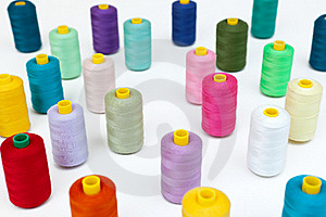 Cotton Bobbins In A Random Array. Stock Images - Image: 20112034