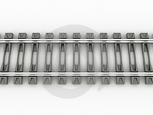 Chrome Rails And Concrete Sleepers №1 Stock Photography - Image: 20112142
