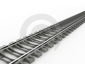 Chrome Rails And Concrete Sleepers №2 Royalty Free Stock Image - Image: 20112146