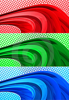 Halftone Banners Royalty Free Stock Images - Image: 20112929