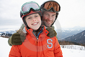 Young Father And Son On Winter Vacation Stock Photography - Image: 20113962