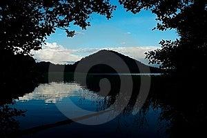 Nightfall Near Pond Stock Photography - Image: 20116432