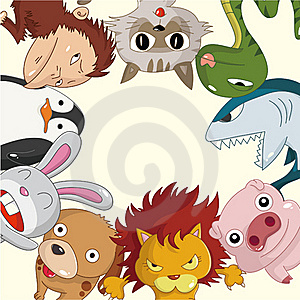 Cartoon Animal Card Stock Photography - Image: 20119172