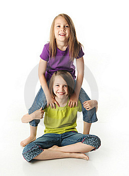 Sisters Goofing Off Royalty Free Stock Photography - Image: 20119397