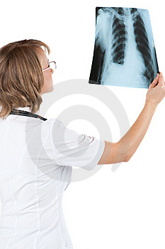Doctor With X-ray Royalty Free Stock Image - Image: 20121356