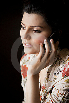Attractive Girl Talking Over The Cell Phone. Royalty Free Stock Photo - Image: 20121795