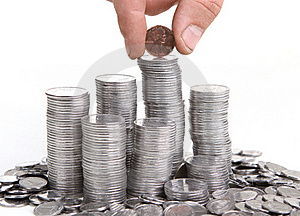 Hand Put Coin To Money Royalty Free Stock Image - Image: 20122686