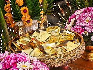 Sheets Of Gold Enclosing Desires Stock Image - Image: 20122931
