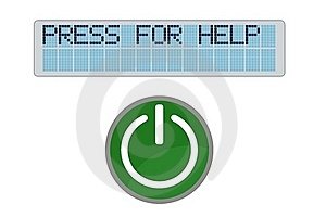 Display Press For Help Stock Images - Image: 20123414