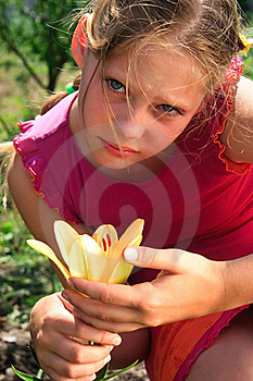 Portrait Of The Grief Young Girl Stock Photo - Image: 20124000