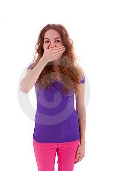 Saying Nothing Royalty Free Stock Photo - Image: 20124125