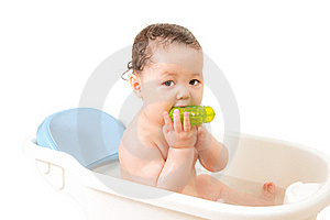 Baby In A Bath Royalty Free Stock Images - Image: 20124319