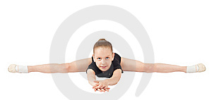 Girl Gymnasts, Sitting On The Splits Stock Images - Image: 20125284