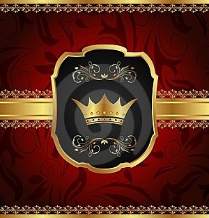 Golden Vintage Frame With Crown Royalty Free Stock Images - Image: 20131209