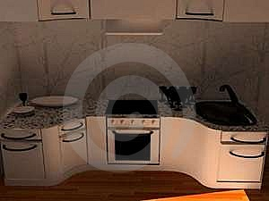 The Kitchen Royalty Free Stock Image - Image: 20132046
