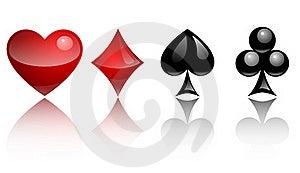 Card Symbols Glass Royalty Free Stock Photography - Image: 20132537
