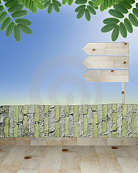 Empty Wooden Signboard Royalty Free Stock Photo - Image: 20133925