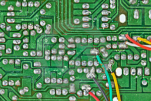 Printed-circuit Board With Electronic Components Stock Photos - Image: 20134503
