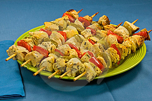 Baked Chicken Skewers Royalty Free Stock Photos - Image: 20135838
