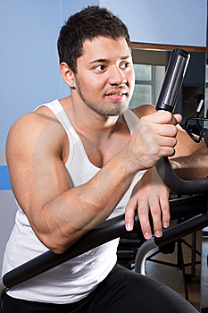 Sportsman Is Relaxing Stock Image - Image: 20137921