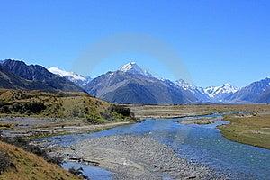 Tasman River, Mt Cook Royalty Free Stock Photos - Image: 20139828