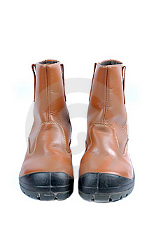 A Pair Of Brown Leather Boots Stock Images - Image: 20140684
