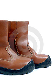 A Pair Of Brown Leather Boots Royalty Free Stock Image - Image: 20140706