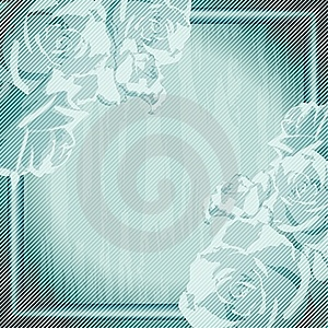 Vintage Grungy Frame With Roses Royalty Free Stock Image - Image: 20141186