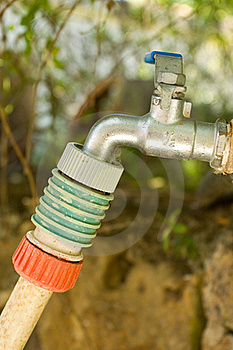 Tap With Hose Connector Stock Photo - Image: 20141190