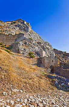 Old Fort In Corinth, Greece Stock Photo - Image: 20142350
