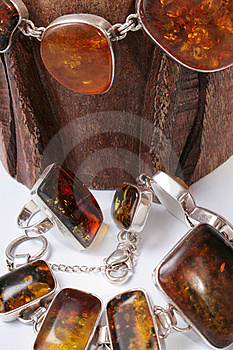 Jewelry Made ​​of Amber Stock Photos - Image: 20143423