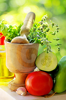 Utensils And Ingredients Of Cuisine. Stock Photo - Image: 20144840