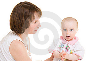 Mother With A Baby Royalty Free Stock Photo - Image: 20145255