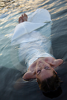 Bride In Water Stock Image - Image: 20145331