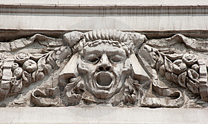 Bas-relief Man's Face Stock Photography - Image: 20145542
