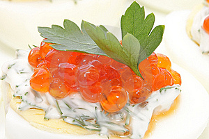 Caviar Salmon Species In Chicken Egg Stock Photo - Image: 20145860