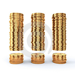 Golden Coins Stock Photo - Image: 20146260