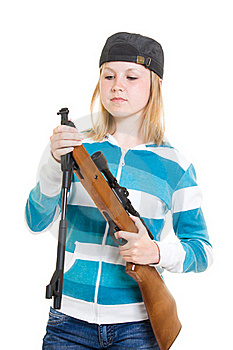 A Teenager With A Gun Stock Images - Image: 20146764