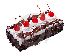 Chocolate Cake Topping With Cherry Royalty Free Stock Images - Image: 20147409