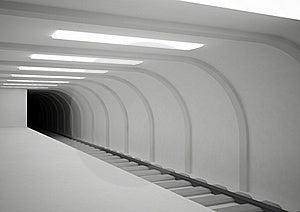 Empty Subway Station Royalty Free Stock Photo - Image: 20148345