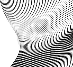 Soft Wavy Lines Black Waves Royalty Free Stock Photo