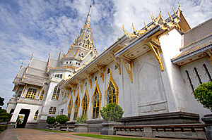 Thai White Marble Temple Royalty Free Stock Photo - Image: 20149205