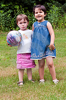 Two Young Girls Royalty Free Stock Images - Image: 20149479