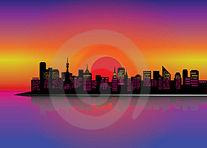 City Silhouette Stock Images - Image: 20151074