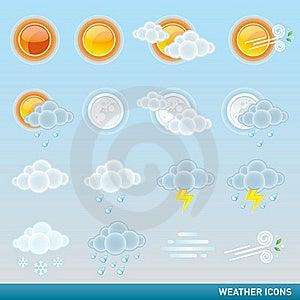 Weather Icon Set Royalty Free Stock Images - Image: 20151349