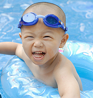 Swimming Boy Stock Images - Image: 20153604